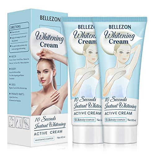 Underarm Cream 2 Pack, Dark Spot Cream for Armpit, Knees, Elbows and...
