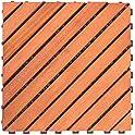 10-Pack Vifah 11 X 11 Inch Interlocking FSC Eucalyptus Deck Tile