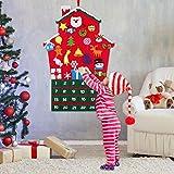 FunPa Calendari dell'avvento, Calendario Natalizio Feltro Albero di Natale Calendario dell...