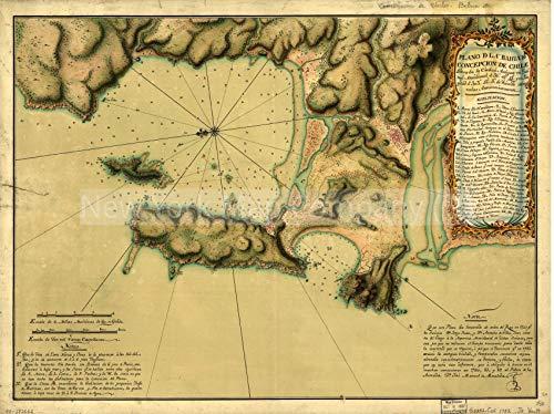 1782 Map|Subject: Biobio|Chile|Coasts|Concepcion Bay|Concepcion Bay Biobio|Concepcion Bay Biobio, Ch