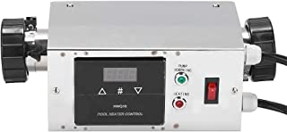 Calentador de piscina eléctrico, 2KW Calentador eléctrico SPA para piscinas impermeables Controlador digital de temperatur...