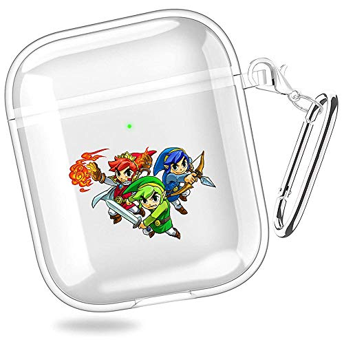 the legend of zelda tri force heroes the legend of zelda four swords adventures the legend of zelda a link between worlds princess zelda Transparent Shell Case Cover For AirPods 1/2 XTBD-725