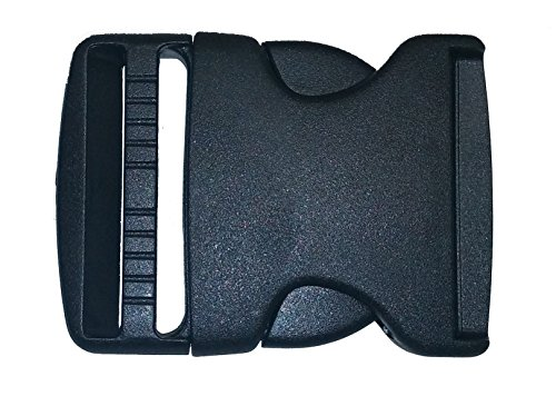 2 Side Release Buckle Pack Plastic Black Buckles for Nylon Web Belts, Replacement Buckles for Camping Gear, Packs, or Any Other Purpose. Comes in Packs of 2, 5 or 10 Buckles By Contractor Pro (5)
