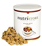 Nutristore Freeze-Dried Beef Dices | Emergency Survival Bulk Food Storage | Premium Quality Meat | Perfect for Lightweight Backpacking, Camping, or Home Meals | USDA Inspected | 25-Year Shelf Life