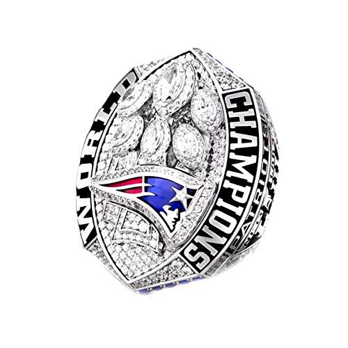 WSTYY Campeonato Anillo New England Championship Ring Patriots Champion Super Bowl 2018,Without Box,13