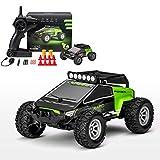 DreiWasser Ferngesteuertes Auto, Mini RC Offroad Spielauto 2WD 2,4GHz mit Fernbedienung, LED Licht, Grün