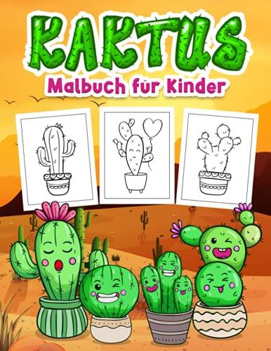 Kaktus-Malbuch für Kinder: Große Kaktus Buch für Jungen, Mädchen und Kinder. Perfekte Kaktus Geschenke für Kleinkinder und Kinder, die es lieben, über Sukkulenten, Kakteen und vieles mehr zu lernen!