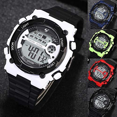 s Hombres 'sWatchUnisex WeekenderWatch, Casual Moda Hombres Estudiantes Reloj Correa de Silicona Impermeable Reloj Deportivo Reloj S-mart Reloj SmartwatchesMóviles y Comunicación
