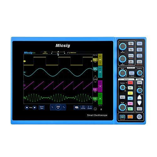 NO BRAND Osciloscopio Digital Inteligente del osciloscopio Digital de 150 MHz Osciloscopio de 2 Canales del osciloscopio automotriz Scopemeter (Color : Azul, tamaño : Un tamaño)