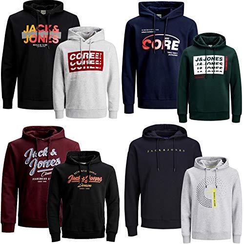 JACK & JONES Kapuzenpullover 2er Pack Hoodie Sweat Shirt Herren Baumwollmix S M L XL XXL (XXL, 2er Paket @ 18)