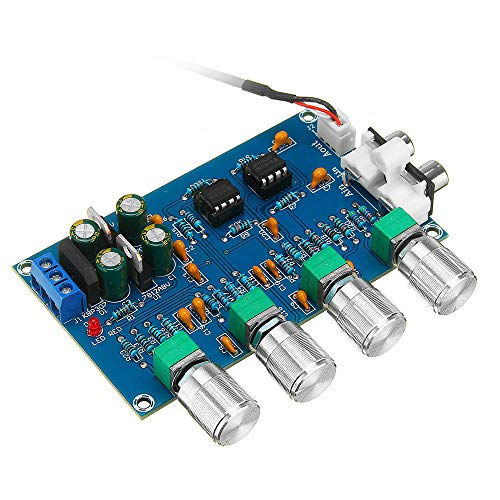 YINCHIE Mukuai22 NE5532 C2-001 CA 12-24V Potencia 4 Amplificador de Canal Amplificador Ajustado Tablero Tablero Preamplificador Bricolaje
