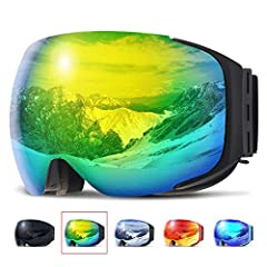 ❤【Two Seconds Quick-Changing Lens】 10 pairs strong magnets around the ski goggles frame which are stable and firm. Easy and fast lens switching. Changing lens can be cool and easy. No more struggling to get the lens swapped for different light condit...