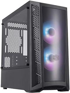Cooler Master MasterBox MB320 ARGB Micro-ATX– Caja PC Gaming - Panel Frontal Dark Mirror, Panel Lateral de Vidrio Templado y 2 Ventiladores RGB de 120 mm con Controlador ARGB – Caja de Ordenador