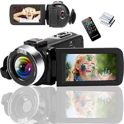 ビデオカメラ 2.7K ユーチューブカメラ ハンディーカメラ カムコーダー ブログカメラ HD 1080P&60FPS 4200万画素数 ウェブカメラ 18倍デジタルズーム 3インチスクリーン フィルライト タイムラプス スローモーション 予備バッテリー リモコン操作 初心者向け 日本語説明書