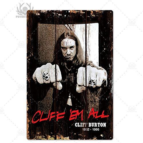 ivAZW Metal Poster Tin Sign Plaque Nostalgic-Art Rock Band Plaque Metal Vintage Wall Plate Bar Pub Club Retro 7.8X11.8Inch Th5031