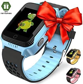 ã€2019 Updateã€' Reloj inteligente para niños – Reloj inteligente para niños reloj GPS rastreador reloj de muñeca Android cámara móvil teléfono móvil mejor regalo para niñas niños rosa azul amarillo
