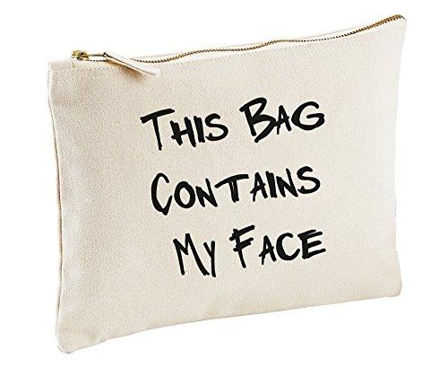 This Sac contiennent mon visage Trousse de Maquillage cadeau idée Sac maquillage articles de toilette
