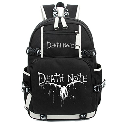 YOYOSHome Death Note Anime Light Yagami Cosplay Luminous Messenger Bag Rucksack Schultasche Gr. L, Death Note1