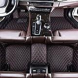 Youthus Alfombrillas De Coche Personalizadas Alfombras De Pie para Audi TT MK1 A1 A2 A3 A4 A5 A6 A7 A8 S4 S5 S8 RS Cobertura Completa Impermeable Antideslizante Alfombra de Cuero Negro Rojo