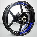 Azul Brillante Motocicleta Moto Llanta Inner Rim Tape Decal Pegatinas para Yamaha Fazer