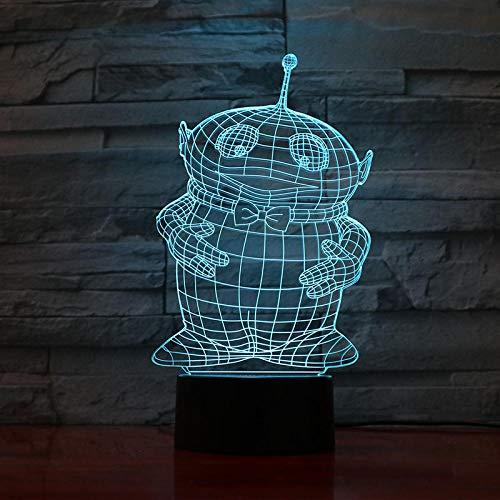 2021Teletubbies - Luz nocturna LED decorativa 3D ilusión táctil para niños y niños, regalo para bebés, dibujos animados