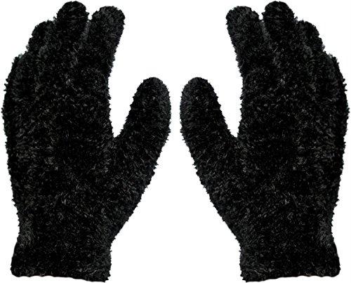 normani 2 Paar Kuschel - Plüsch - Handschuhe Magic Gloves Farbe Schwarz