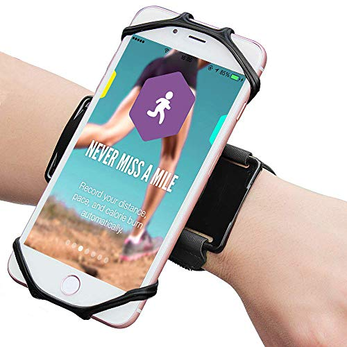 AXELENS Fascia da Polso Braccio 2 in 1 Universale Porta Telefono Fino a 6.7'' Palestra Running Ciclismo iPhone 12/11 PRO, Galaxy A71/S21 Huawei P Smart/Redmi 9 Mi 11 Oppo Find X3/A53s - Nero