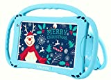 Kids Tablet Android Tablet for Kids WiFi Tablet for Toddlers 2+16G 7' HD Display Pre-Installed Apps Google Playstore Parental Control Kid-Proof Learning Tablet with Shoulder Strap (Blue)