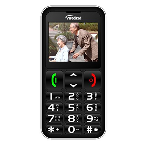 YINGTAI T11 2G Easy to Use Big Button Phone for Elderly, Dual SIM Senior Phone with SOS Button