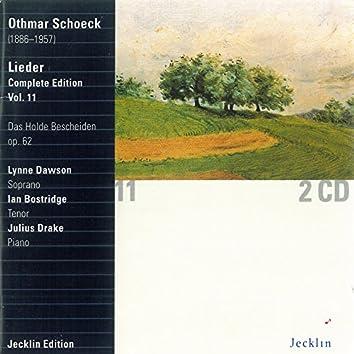 Othmar Schoeck: Lieder - Complete Edition, Vol. 11