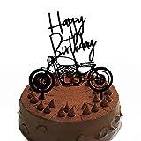 Gwolf Motorrad Cake Topper personalisierte Kuchen Plakat Dekoration Backen Kuchen Lokomotive Stil...