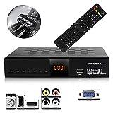 Echosat 20500 HD Démodulateur satellite chaines HD FTA DVB-S2 HDMI USB PVR Noir
