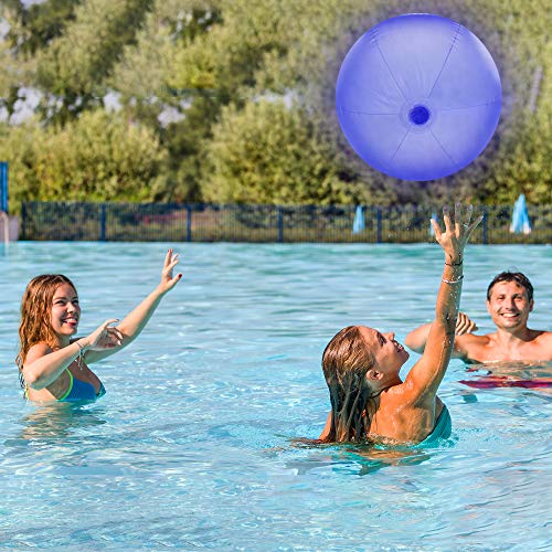 LED Light up Color Changing Waterproof Inflatable Beach Ball | 30 inches | For Beach & Pool Parties
