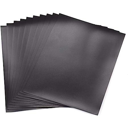 Briartw Lot de 10 feuilles magnétiques en caoutchouc souple pour matrices de découpe et rangement Orange 17,8 x 12,7 cm
