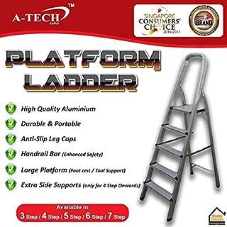 A-TECH™ Aluminium Platform Step Ladder Platform Ladder Aluminium Ladder (PF-07-7 Step)
