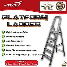 A-TECH™ Aluminium Platform Step Ladder Platform Ladder Aluminium Ladder (PF-06-6 Step)