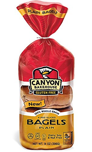 CANYON BAKEHOUSE Gluten-Free Plain Bagels - Case of 6
