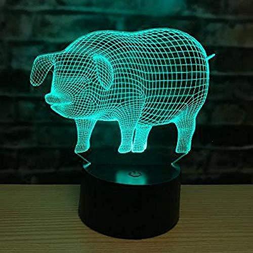 3D nachtlampje bedlampje driedimensionale diashow sterrenbeeld muis tijger konijntje draak slang paard schapaap kip hond hond varken kerstgeschenk sfeer