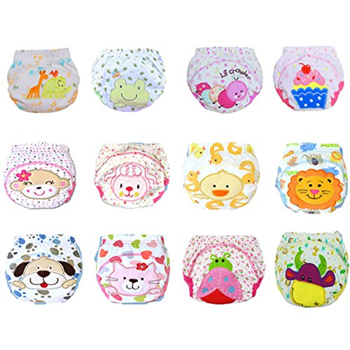 12Pcs Baby Boys Girls Toddler Toilet Pee Potty Training Pants Cartton Underwear Size S