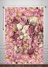 5X7ft Rose Floral Wall Newborns Portraits Photography Backdrop Art Fabric studio pink flowers wall photo backdrop D-8059