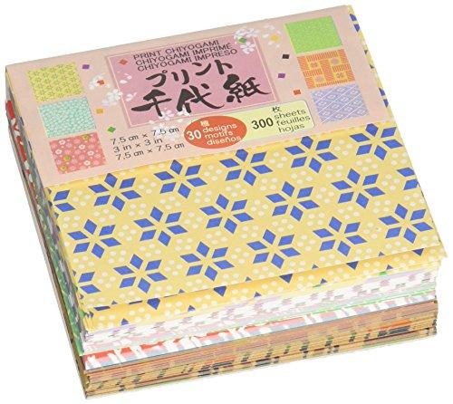 Aitoh Origami Papier 3Zoll x 3Zoll 300Sheets-Mini Print