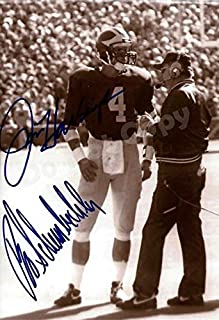 Jim Harbaugh and Bo Schembechler Autograph Replica Poster - Michigan Wolverines