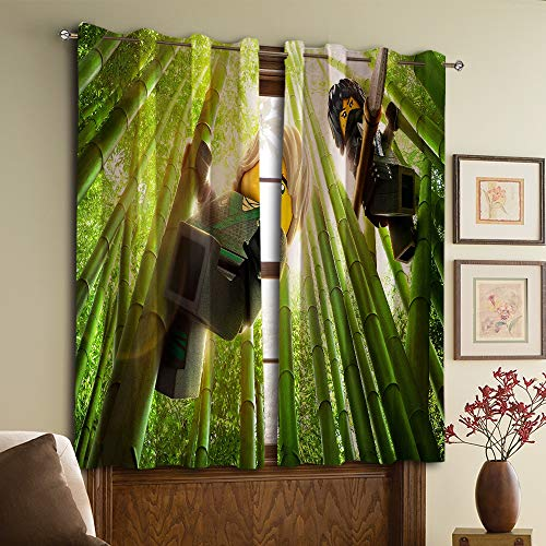 Gardinen für Wohnzimmer The Ninjago Movie für Wohnzimmer oder Schlafzimmer W52 x63 L