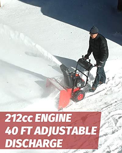 PowerSmart PSSAM24 24-inch 212cc 2-Stage Electric Start Snow Blower