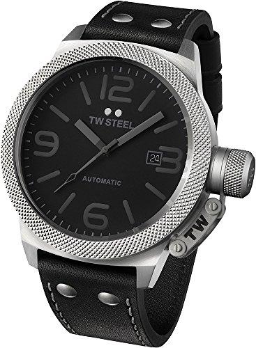 TW Steel Unisex-Armbanduhr Analog Automatik Leder TWA200