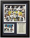 Legends Never Die New York Yankees MLB Greats Collectible | Framed Photo Collage Wall Art Decor - 12'x15'