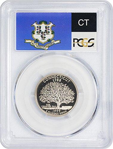 1999-S Connecticut State Quarter, PR70DCAM, Clad, PCGS