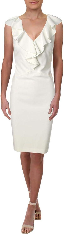 Lauren Ralph Lauren Womens Ruffled Sheath Cocktail Dress