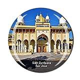 Imán para nevera de San José América 3D Sikh Gurdwara de cristal de recuerdo de recuerdo de viaje colección de recuerdos de regalo para el hogar y la cocina