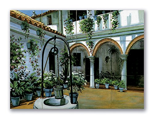 Paisaje Azulejos Decorativos Patio Andaluz